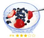 朝食, ヨーグルト, 果物, サプリ